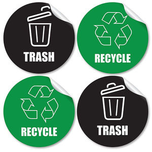 Other - Large Recycle & Trash Garbage Bin Stickers Set
